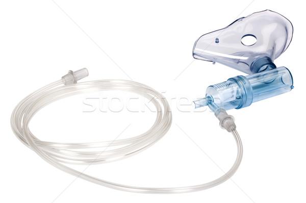 Oksijen maskesi plastik boru yatay beyaz arka plan Stok fotoğraf © imagedb
