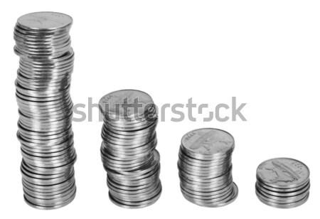 Geld metaal groep economie rijkdom Stockfoto © imagedb