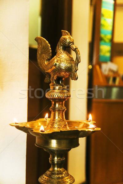 Közelkép petróleumlámpa kerület terv fém lámpa Stock fotó © imagedb