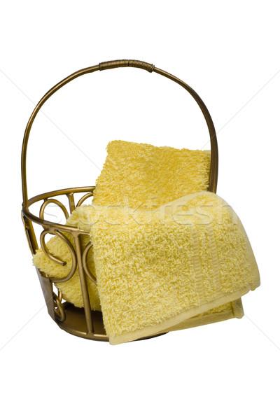 корзины металл желтый изолированный Сток-фото © imagedb
