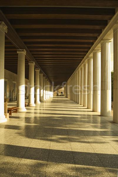 Gang oude museum Athene Griekenland reizen Stockfoto © imagedb