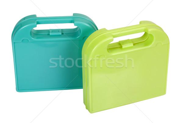 Közelkép kettő doboz javítás hardver fehér háttér Stock fotó © imagedb