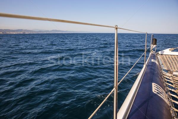 Barco em movimento mar onda fotografia Foto stock © imagedb