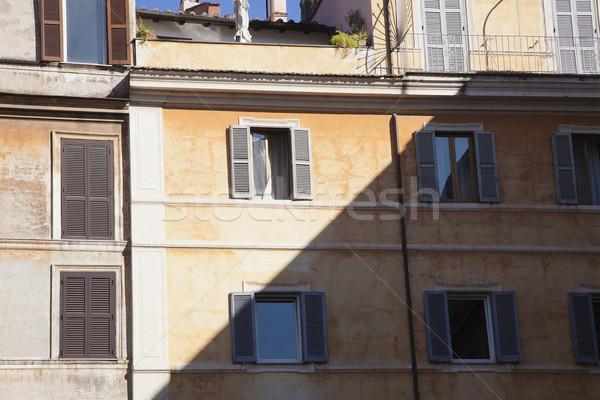 építészet árnyék Roma római kint Róma Stock fotó © imagedb
