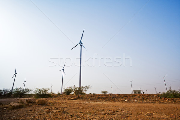 Windpark Indië landschap technologie woestijn Stockfoto © imagedb