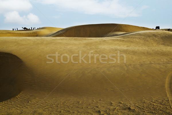 Kum Hindistan gökyüzü manzara arka plan çöl Stok fotoğraf © imagedb