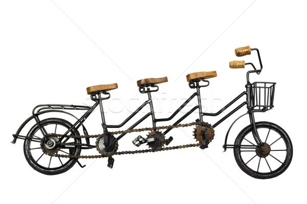 три тандем велосипед металл путешествия корзины Сток-фото © imagedb