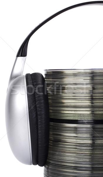 スタック コンパクト 技術 ヘッドホン データ コンパクトディスク ストックフォト © imagedb