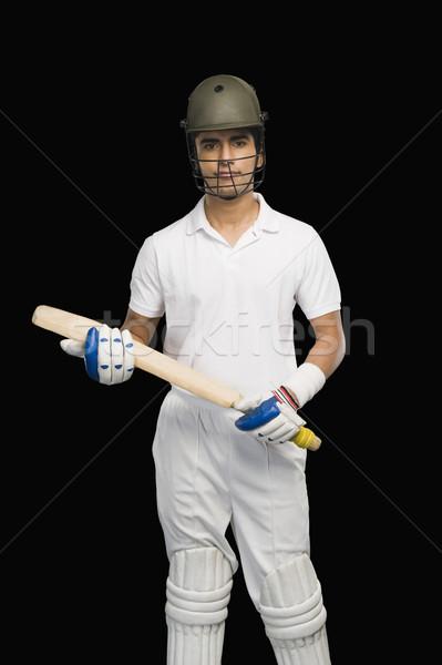 портрет крикет Bat человека безопасности Сток-фото © imagedb