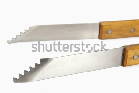 クローズアップ トング 木材 デザイン 金属 写真 ストックフォト © imagedb