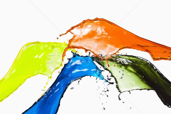 Sıçrama farklı renk turuncu damla renkler Stok fotoğraf © imagedb