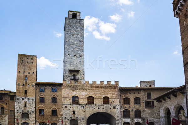 Stock photo: Buildings in the medieval town of San Gimignano