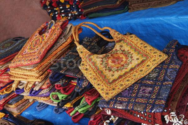 Stok fotoğraf: çanta · satış · pazar · yeni · delhi · Hindistan