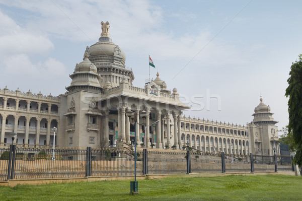 Hükümet Bina bahçe bulut mimari Hindistan Stok fotoğraf © imagedb
