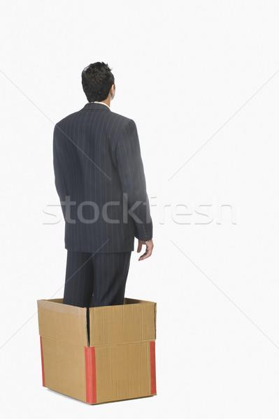 Empresário em pé dentro negócio homem Foto stock © imagedb