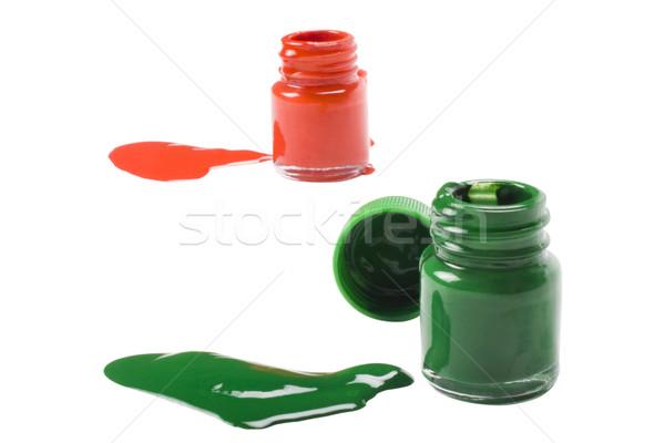 Сток-фото: цвета · акварель · бутылок · краской · искусства · бутылку