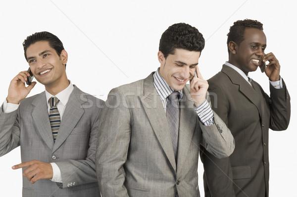 3  ビジネスマン 話し 携帯電話 ビジネス ビジネスマン ストックフォト © imagedb
