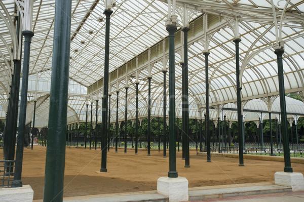Vetro casa giardino botanico architettura struttura India Foto d'archivio © imagedb