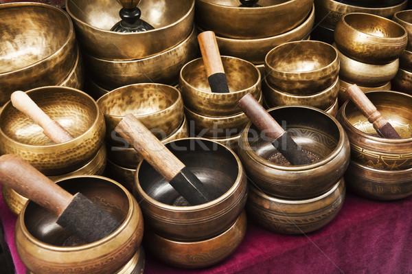 Mortar and pestle at a market stall, Nepal Stock photo © imagedb