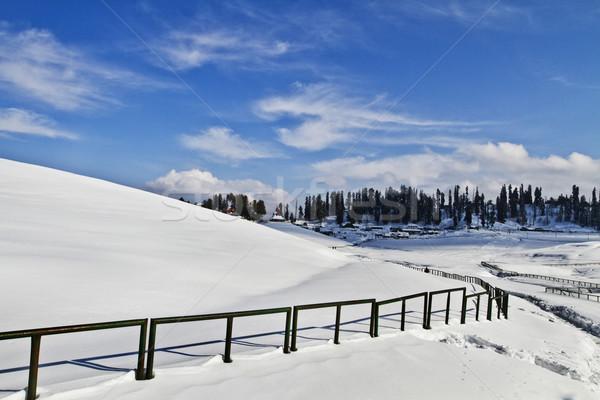 çit kar kapalı alan Hindistan doğa Stok fotoğraf © imagedb