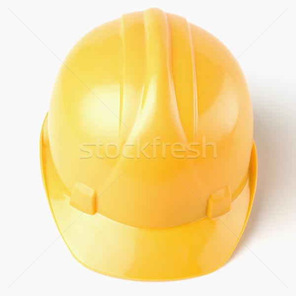 Primer plano casco de seguridad segura amarillo fotografía India Foto stock © imagedb