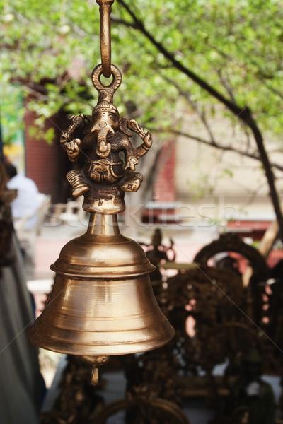 Cloche suspendu marché new delhi Inde Photo stock © imagedb