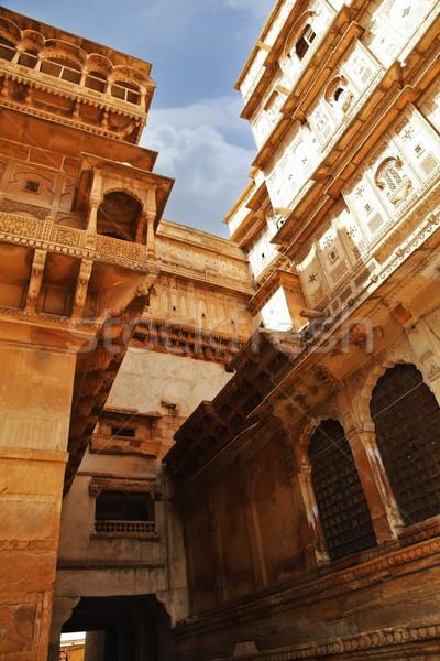 Dettaglio architettonico fort architettura fotografia turismo India Foto d'archivio © imagedb