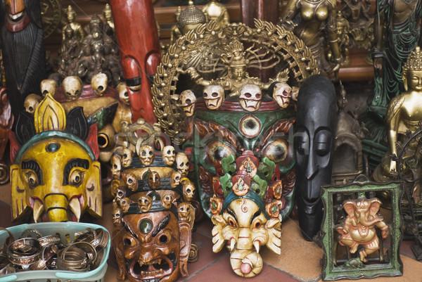 Primo piano maschere store nuova delhi India business Foto d'archivio © imagedb