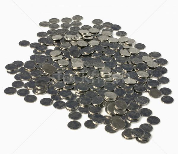 Közelkép érmék pénz csoport pénzügyi érme Stock fotó © imagedb