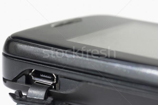 Usb kikötő mobiltelefon technológia telefon hívás Stock fotó © imagedb