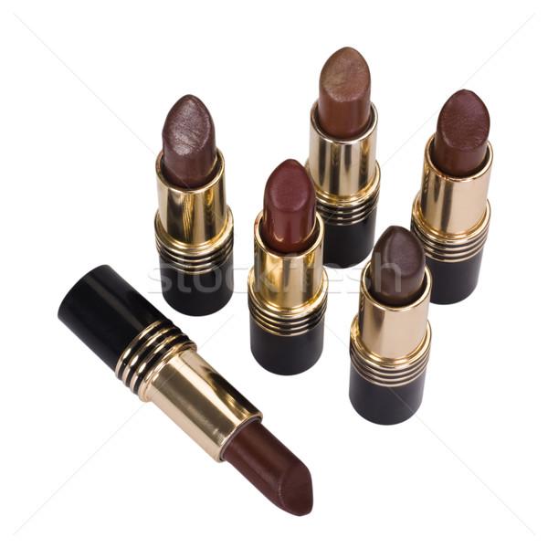 Grupo vermelho glamour cosméticos objetos Foto stock © imagedb