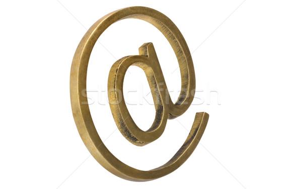 Közelkép szimbólum fém háló kommunikáció információ Stock fotó © imagedb