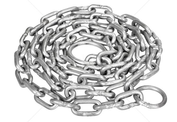 Enrolado metal cadeia poder aço Foto stock © imagedb