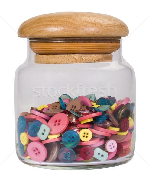 Jar Tasten Glas Taste Sicherheit Stock foto © imagedb