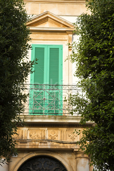 Low angle view of a balcony of a house Stock photo © imagedb