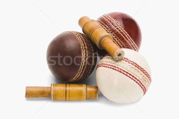 Cricket hout Rood nieuwe Stockfoto © imagedb