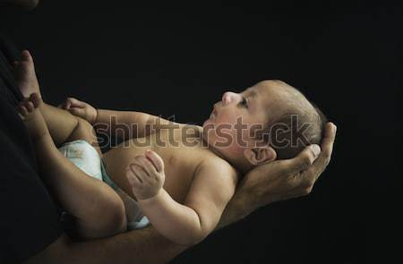 Adam oğul silah aile bebek Stok fotoğraf © imagedb