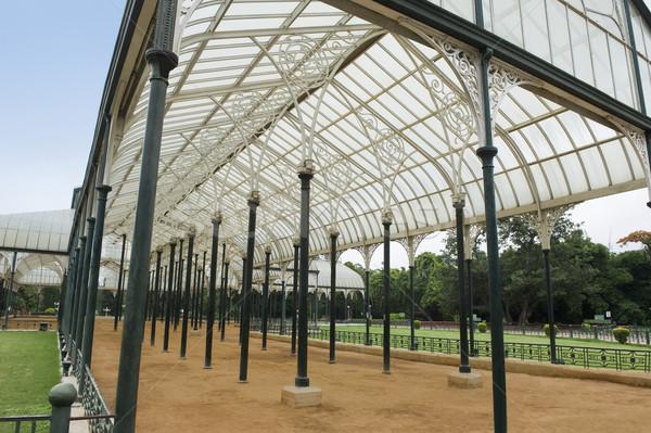 Vetro casa giardino botanico giardino architettura India Foto d'archivio © imagedb