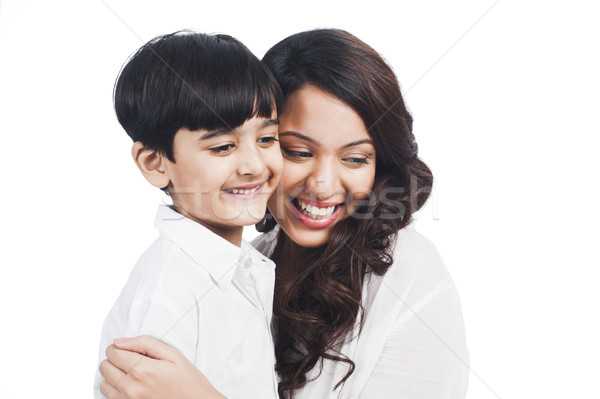 Photo stock: Heureux · mère · fils · souriant · famille · parents