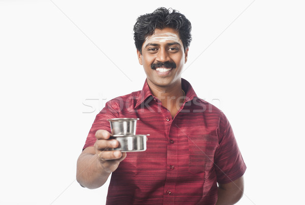 Güney Hint adam cam çay Stok fotoğraf © imagedb
