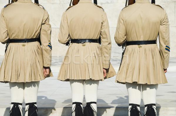 Royal Grab unbekannt Soldat Platz Athen Stock foto © imagedb