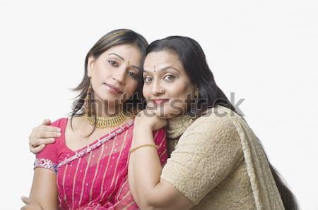 Portret kobieta córka rodziny uśmiech miłości Zdjęcia stock © imagedb