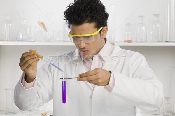 Wetenschapper chemische Indië horizontaal Stockfoto © imagedb
