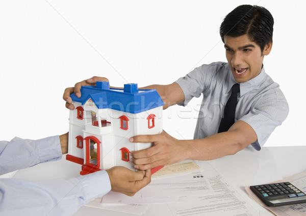 Сток-фото: клиентов · модель · домой · бумаги · технологий