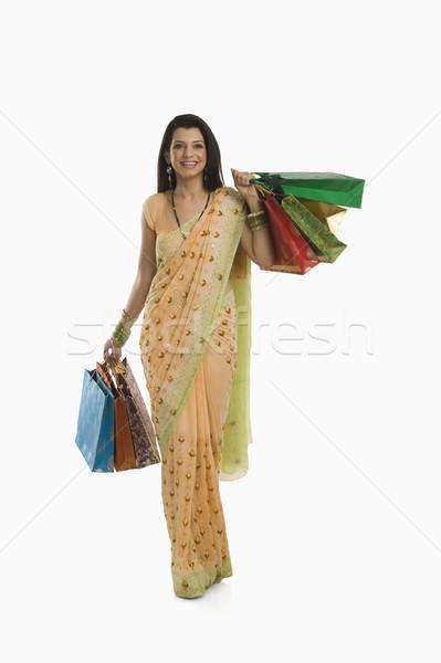 женщину молодые подарок празднования Сток-фото © imagedb