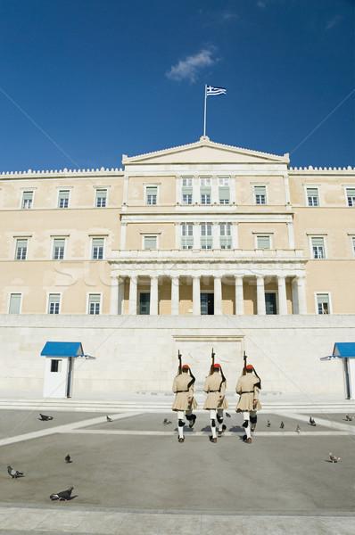 Királyi sír ismeretlen katona tér Athén Stock fotó © imagedb