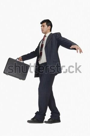 Empresário pasta caminhada negócio Foto stock © imagedb
