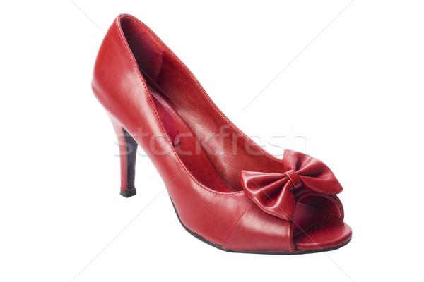 Sapato vermelho padrão glamour Foto stock © imagedb