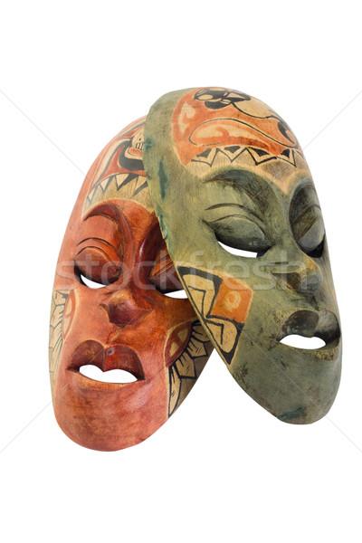 Közelkép kettő maszkok terv maszk védelem Stock fotó © imagedb