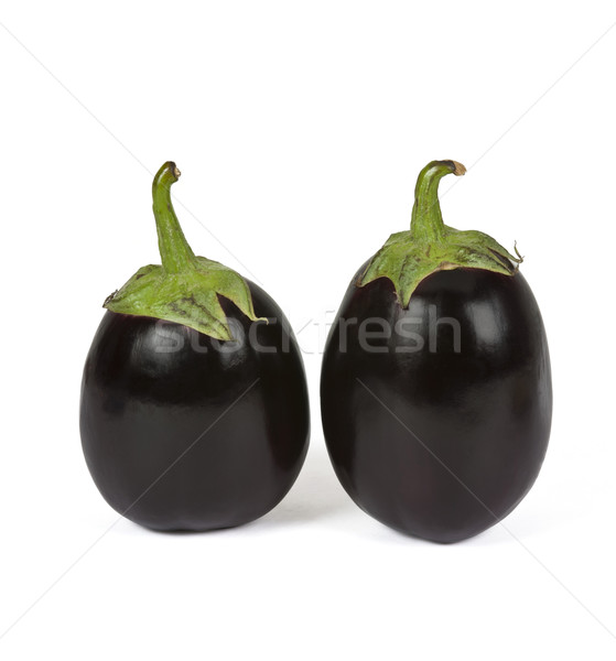 Close-up of two eggplants Stock photo © imagedb